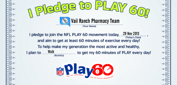 Vail Ranch Pharmacy Pledges to Play 60
